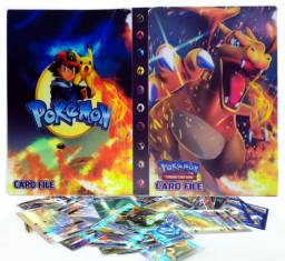 Álbum Pokémon + 100 cartas Originais BR