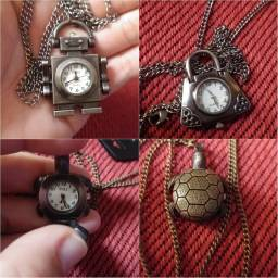 Relógio de bolso com corrente