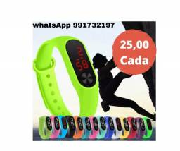 Relogio Bracelete Pulseira Digita Led Sport 25,00 cada