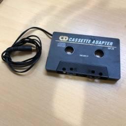 Adaptador Fita Cassete Pra Cd Celular Saida P2