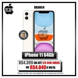 Iphone 11 64gb, preto e branco, lacrado.