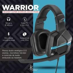 Headset Gamer Warrior Askari PS4/Smartphone/Tablet, Azul - PH292