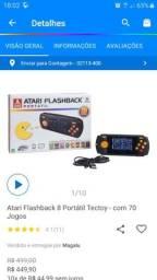 Atari tectoy flashback portátil 70 jogos na memória  estado de novo