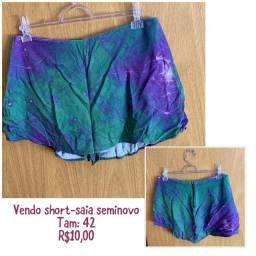 Short-saia seminovo tamanho 42