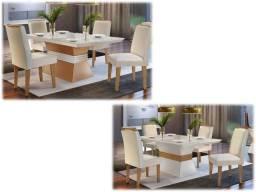 Mesa 4 Cadeiras Lagatha -Linda!!!!!