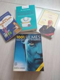 Livros diversos e Guia 1001 Filmes para ver antes de morrer