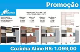 armário de cozinha Aline completo em promoção