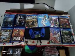 Vendo PS4 slim com vários jogos