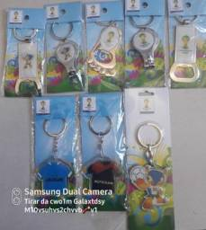 Vendo chaveiros licenciados oficiais da Copa do Mundo de 2014
