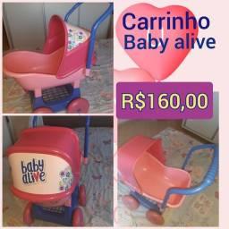 Carrinho baby alive