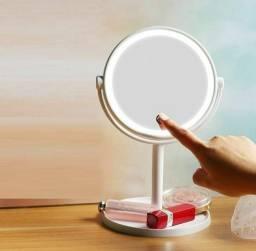 Espelho Com Led De Mesa Portátil