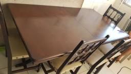 Mesa de madeira postiça mesa abre e fecha