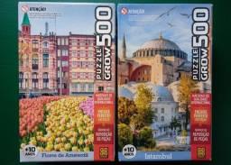 Quebra-cabeças GROW - 500 e 1000 peças