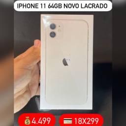 iPhone 11 64gb novo lacrado 1 ano de garantia Apple.