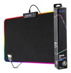Mouse Pad Com Borda de 7 Cores de Led Modos Espectro Backlighting Mpled2535 - Exbom