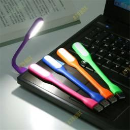 Mini Lanterna Luminária Led Usb Portátil Notebook Leitura
