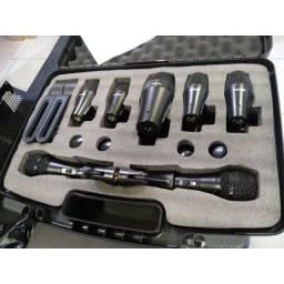 Kit de microfones pra bateria da shamsonic.