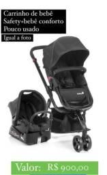 Carrinho + bebê conforto Safety