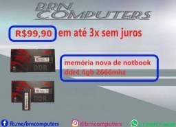 promoção memorias de pc e notbook ddr4gb ambas as memorias