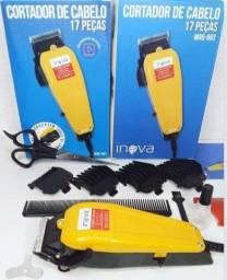 Maquina de cabelo com 17 peças Inova