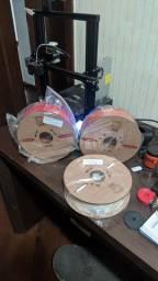 2,5 KG de Filamento ABS P3D Vermelho, Laranja e Branco