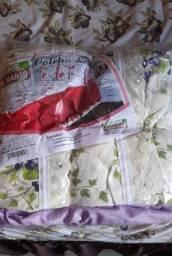 Colcha e lençol de casal