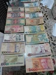 Cédulas dinheiro antigo