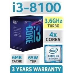 Kit Core i3 8100  + 8 Gb RAM + Placa Mãe MSI H310 VDH apenas R$ 1800,00  Preço Negociável.