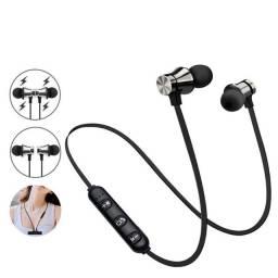 Fone De Ouvido Bluetooth C/ Microfone P/ Academia E Esportes