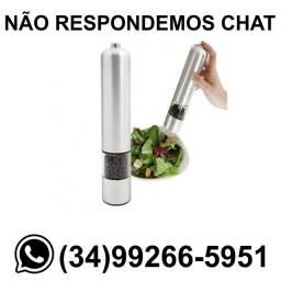 Moedor de Condimentos Elétrico (Pilha) Inox * Fazemos Entregas