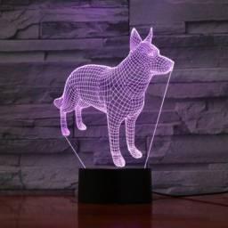 Luminária 3d Criativa - Formato Cachorro