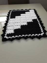 Tapete crochê feito a mão