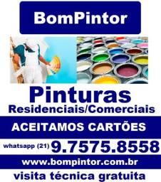Pintor Pintura Imóvel Residencial Comercial Atendemos Todo RJ Aceitamos Cartões