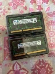 Duas memórias 4gb ddr3 1333 Samsung