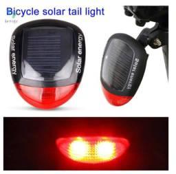 Lanterna Sinalizador Traseira Solar Bike Bicicleta Led Pisca