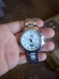 relogio fngeen 3atm pulseira aço data e hora prata