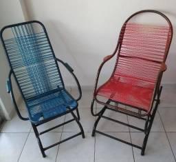 Charmosa cadeira de balanço base fixa/mola