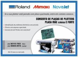 Conserto de placa lógica (mae) de plotters