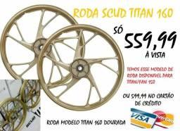 Roda scud pé de galinha dourada titan 160 ou titan 150