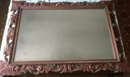 Espelho com Moldura Entalhada - 04 x cartao credito
