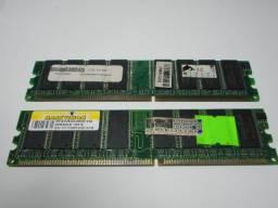 Duas memórias totalizando 2GB - DDR400/PC400