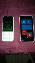 Lumia 530 e nokia 208