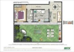 Apartamento térreo com quintal privativo no Cond. Rios d'Itália