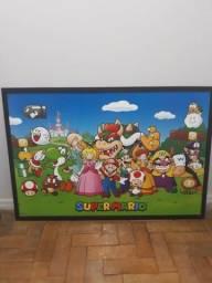 Poster Quadro Super Mario Personagens
