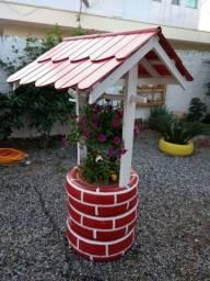 Poço artesanal decorativo