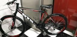 Bicicleta Aro 26 GTS Freios Disco Toda Alumínio C/ Amortecedor Aceito Cartão