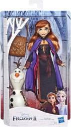 Boneca Disney Frozen Ii Anna Com Mochila E Boneco Olaf