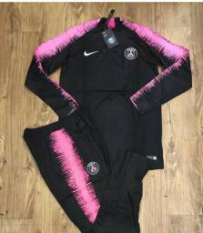 Conjunto Paris saint germain Preto e rosa