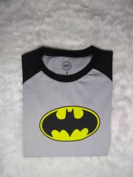 Kit 3 camisetas infantil super heróis Marvel.