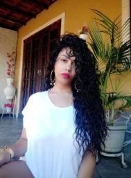 Lace Front cacheada Fibra Human Hair Blend 65cm
